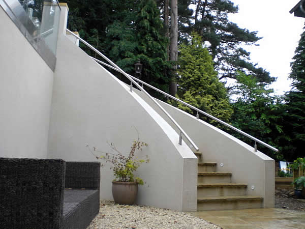 steel railings with helix curve