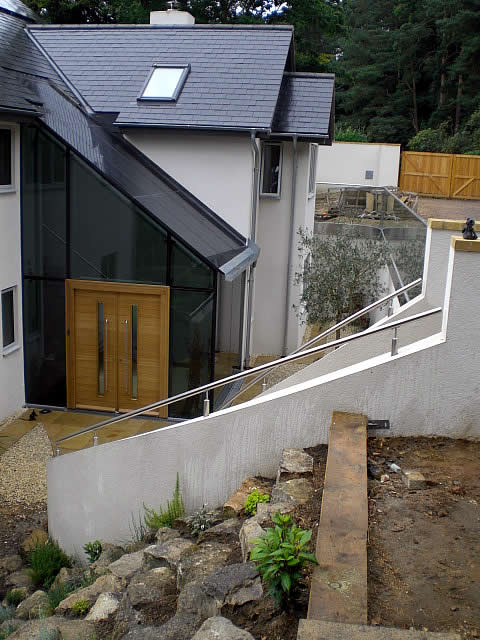 external view of residential steel framed building extention