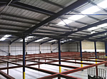 commercial steel frame building