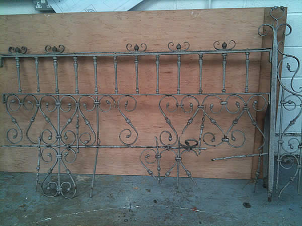 Wrought Iron Gate And Railing Restoration Carried Out By